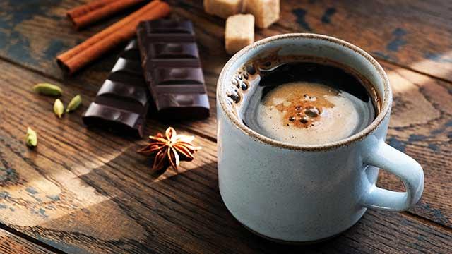 チョコレートドリンクとチョコレート