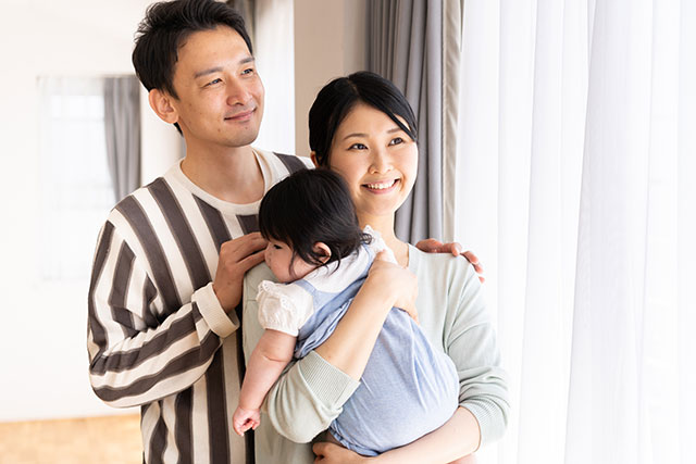 父と母と子